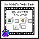 File Folder/Work System Task - How Questions