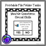 File Folder/Work System Task - Yes/No Questions: Social Skills