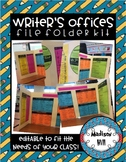 File Folder Writing Offices Kit *Editable to Fit the Needs
