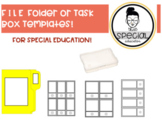 File Folder and Task Box Template - Special Education