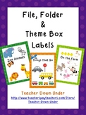 File, Folder and Theme Box Labels