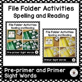 File Folder for Spelling and Reading Sight Words Bundle