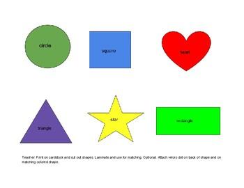 File Folder game: shape matching