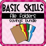 File Folders Basic Skills for Special Education