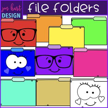 File Folders Clip Art- School Supplies {jen hart Clip Art)