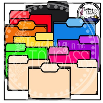 File Folders Clipart Bundle