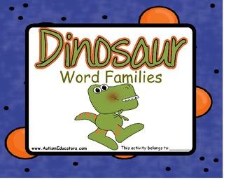 File Folders Dinosaur Word Families {Set of 6 } for Kinder