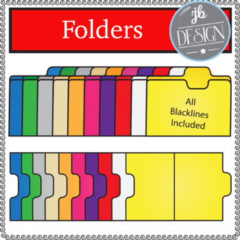 File Folders (JB Design Clip Art for Personal or Commercial Use)