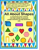 File Folders Shapes and Assessment Worksheets for Autism/Special Education