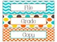 File, Grade, and Copy Labels FREEBIE in Candy Colors Theme