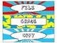 File, Grade, and Copy Labels FREEBIE in Comic Book Theme