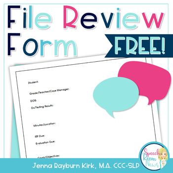 File Review Form Freebie