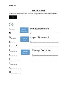 File Tab Activity