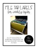 File Tab Labels