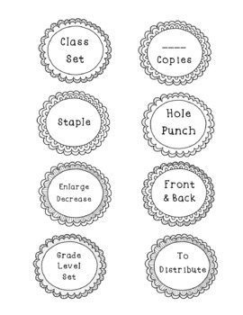 File and Copy Labels in Black and White