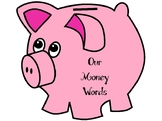 File folder Money vocab for writing center!