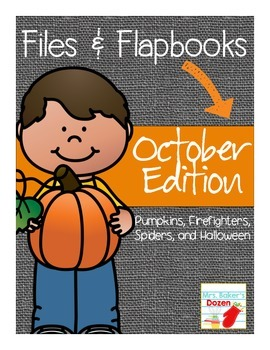 Files and Flapbooks: October Edition including Pumpkins, Firefighters, and more!
