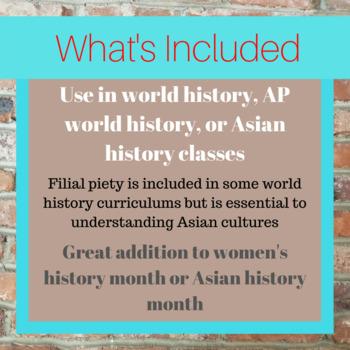 Filial Piety Short Read with Summary Workbook
