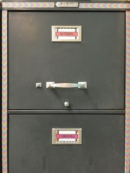Filing Cabinet Labels