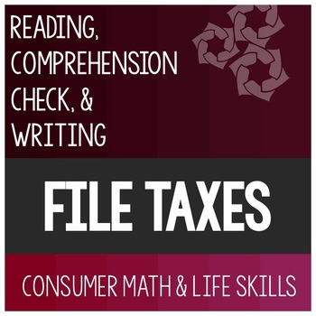 Filing Taxes Article- Consumer Math Special Education