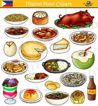 filipino food philippines asian food clipart by i 365 art tpt rh teacherspayteachers com food clip art free images food clipart free