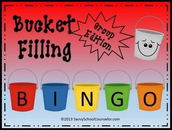 Bucket Filling BINGO-Group Edition- Savvy School Counselor