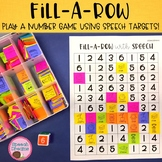 Fill-A-Row Speech Therapy Cut and Paste Numbers Game (arti