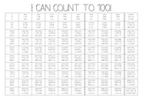 """""""I Can Count to 100"""" Fill-In Chart"""