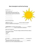 Fill In Blank Notes for Atmosphere Powerpoint