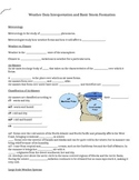 Fill In Blank Notes for Weather Data PowerPoint