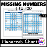 Hundreds Chart Missing Numbers 1 to 100 with TPT Easel