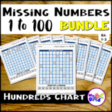 Hundreds Chart Missing Numbers 1 to 100 BUNDLE with TPT Easel