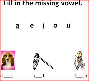 Fill In Missing Short Vowel
