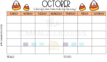 Blank Calendar Templates with Clipart (color/B&W)