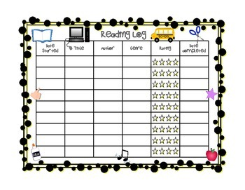 Fill In Reading Log & Book Report Pages