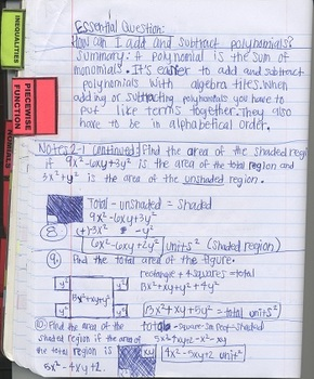 Tabs for Interactive Notebooks (A Fill-In Form Using Adobe Reader)