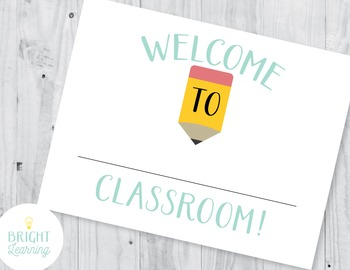 Fill In Teacher's Classroom Door Sign