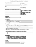 Fill-In Template for Writing a Cover Letter for Resume