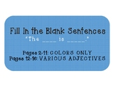 Fill In The Blank Sentences