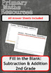 Fill In The Blanks: Addition and Subtraction Worksheets - 2nd Grade
