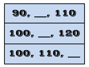 Fill In The Missing Number- Counting By 10's