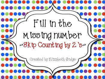 Fill In The Missing Number- Counting By 2's