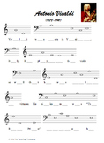 Fill-In-The-Notes Composer Biographies - Vivaldi, Mozart, & Schubert
