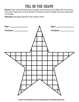 Fill In The Shape Math Game