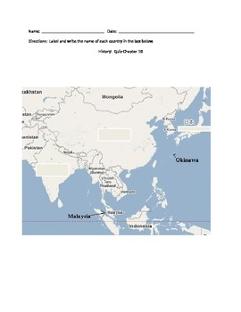 Map Of Asia Fill In.Fill In The Blank Map Of Asia