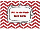 Verb Task Cards (20 fill in the blank task cards)