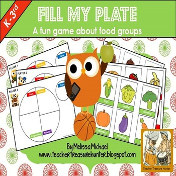 Fill My Plate Game ~ Watch out for the Sweet Stop! Up to 6 players
