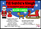 Fill Santa's Sleigh Christmas BOOM CARDS for Articulation