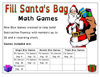 Fill Santa's Bag - Math Games