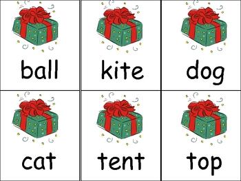 Fill Santa's Sleigh- Kindergarten Christmas Reading Words Activity